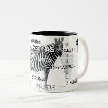Unique Zebras Two-Tone Coffee Mug
