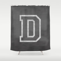 Letter D Shower Curtain by Dena Brender Photography