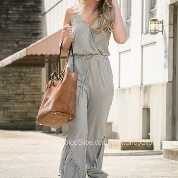 Summer Sage Retro Jumpsuit