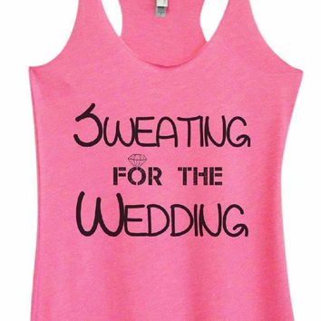Womens Tri-Blend Tank Top - SWEATING FOR THE WEDDING