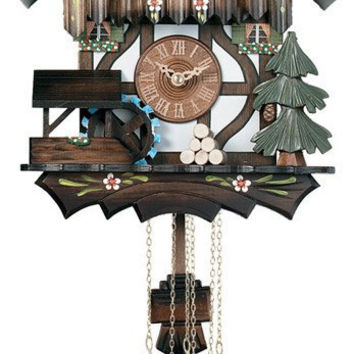 1 Day Musical Cuckoo Clock Cottage with Dancers and Moving Waterwheel
