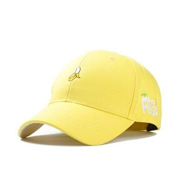 Fashion cotton soft sister banana fruit hat leisure shopping lovers cap snapback baseball cap female spring caps