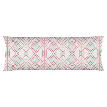 Rose Gold Geo Body Pillow