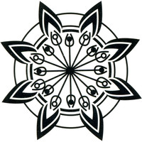 Tribal Flower Temporary Tattoo 2x2