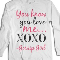 XOXO gossip girl-Unisex White T-Shirt
