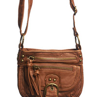 Mini Zip Front Crossbody Bag - WetSeal