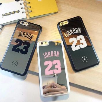 DCKL9 nba player star Michael Jordan 23 fundas PC hard mirror Phone Cases for iPhone 5 5s 6