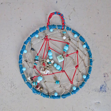 Handwoven Dreamcatcher - Hand Made Dream Catcher - Boho Bedroom Decor - Modern Native - Hippy Wall Hanging - Symbolic Dream Web