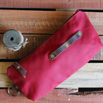Waxed Pencil Pouch