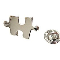 Jigsaw Puzzle Piece Lapel Pin [Jewelry]