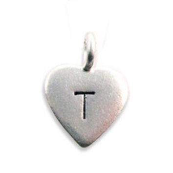 Hand Stamped Charms | Heart Charms | Initial Charms | Alphabet Charms