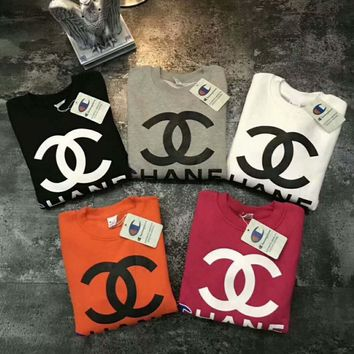 CHANEL&Champion sets the head sweater couple hooded sweater