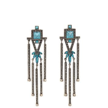 Crystal-embellished clip-on earrings | Valentino | MATCHESFASHION.COM US