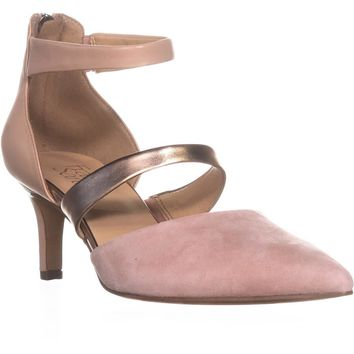 Franco Sarto Davey Kitten Heel Pumps, Blush, 7 US / 37 EU