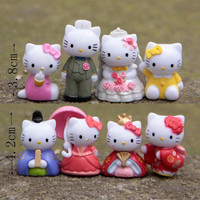 2015 Hot Anime Cartoon Hello Kitty Toy Figures,Hellokitty Action Models for kids Birthday Gifts,8 pcs/lot Anime club