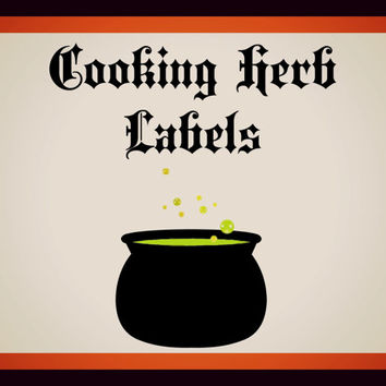 Cooking Herb and Spices Labels