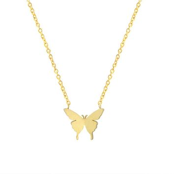 Cute Butterfly Pendant Necklaces for Women
