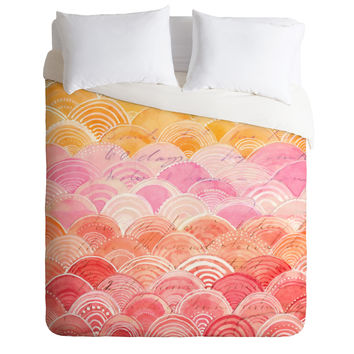 Cori Dantini Warm Spectrum Rainbow Duvet Cover