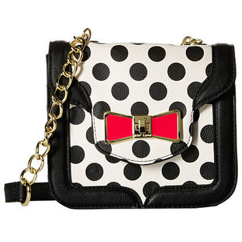 Betsey Johnson Princess Sparkles Polka Dot Shoulder Bag