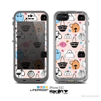 The Subtle Pink And Purses Skin for the Apple iPhone 5c LifeProof Case