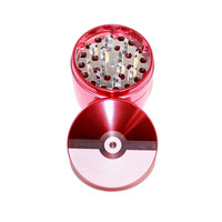 Pokemon Pokeball Design Laser Etched Metal Herb Grinder - 4 piece herb grinder w/ FREE bag - weed grinder