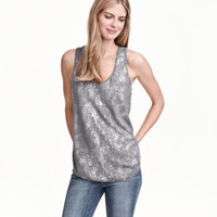 Shimmery Tank Top - from H&M