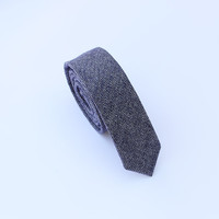 Wool Ties.Blue Ties.Mens Skinny Ties,Business Ties.Skinny Ties.Groomsman Ties.