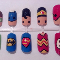 Justice League Nail Art