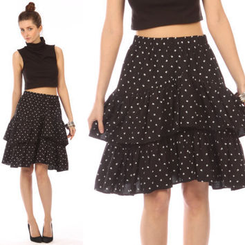 black ruffle skirt // vintage 80s // white cube by shopCOLLECT