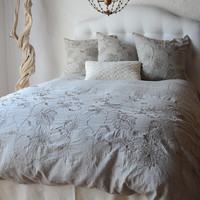 Grace Duvet Cover with Metallic Embroidery
