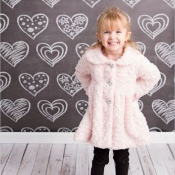 Chalkboard Hearts Backdrop Photography Background / 2370