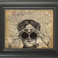Looking to the world -printed on Map page. 250Gram paper.