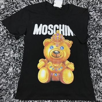 Moschino Cute Fashion Bear Tunic Shirt Top Blouse