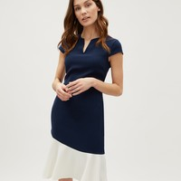 Curved Colour Block Dress | Jaeger