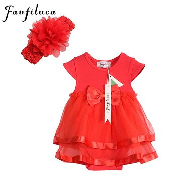 Cotton Lace Baby Girl Dress Soft Fashion Newborn Body Suit