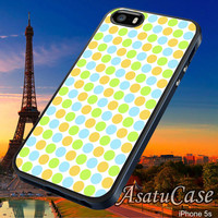 Retro Polka Dots - Samsung Galaxy S2/S3/S4,iPhone 4/4S,iPhone 5/5S,iPhone 5C,Rubber Case,Cell Phone,Case,Accessories - 040214/CA12