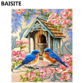 BAISITE Frameless DIY Oil Painting Pictures By Numbers On Canvas Wall Pictures Wall Art For Living Room Home Decoration 989