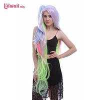 135cm Long Mixed Color Synthetic Cosplay Wig