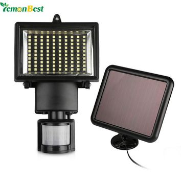 50W 100-LED Garden Solar Light with Panel Motion Sensor Waterproof Sensitivity for Outdoor Lighting Hunting Security Use
