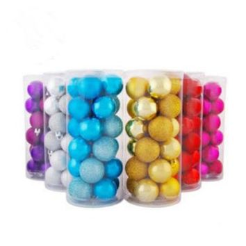 PEAPGB2 Christmas Decorations Chrismas Tree Ornaments 6 Kinds Of Colors Balls Party KTV Wedding Children' Room Decor 24pieces/Lot