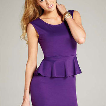 Justina Peplum Dress
