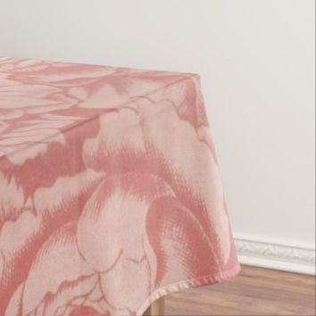 Vintage Floral Pattern Print Tablecloth
