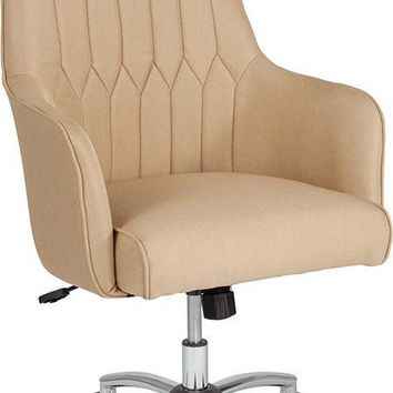Albi Home and Office Upholstered High Back Chair in Beige Fabric [BT-90910H-BGE-F-GG]