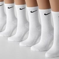 Nike Performance Athletic Crew Socks - 3 Pack White