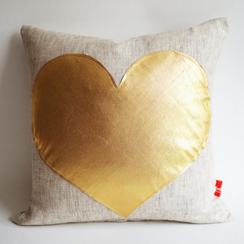 Sukan / pink raw pillow - white and gold pillow - pink and gold pillow - navy and gold pillow - red and gold pillow - grey and gold pillow