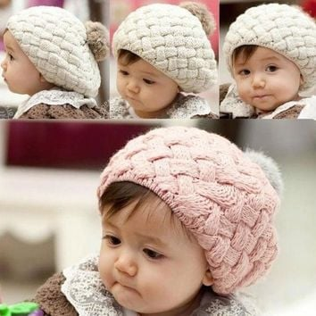 Cute Baby Infant Girls Toddler Winter Warm Knitted Crochet Hat Cap Beanie 7_s = 1917003268