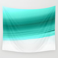 Mint Ombre Wall Tapestry by SimpleChic