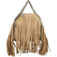 Stella McCartney | Natural Falabella Shaggy Deer Fringed Tiny Tote | Lyst