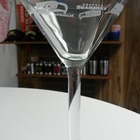 NFL Seattle Seahawks 10oz Satin Etch Martini Glass