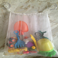 Bathroom Toys Tidy Storage Suction Cup Bag Mesh for Children